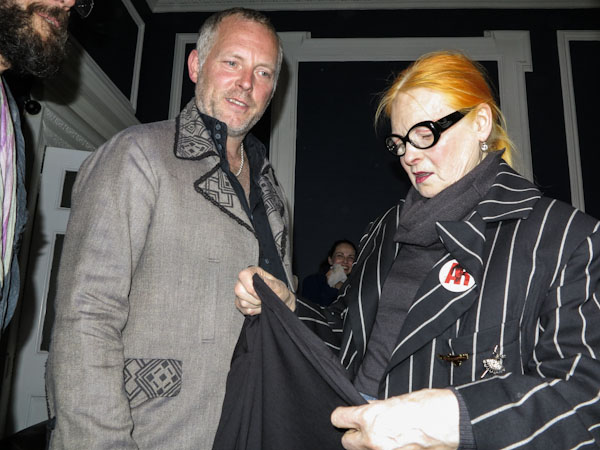 Vivienne Westwood and Joe Corré at the A Child of the Jago fashion presentation, in London, june 2012. Photo Yannis Vlamos