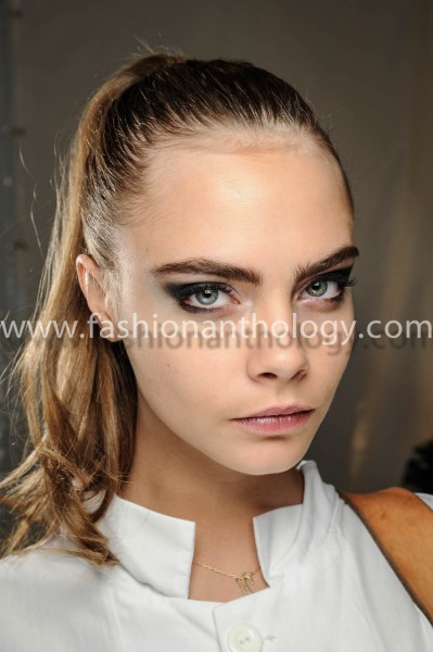 Portraits of top model Cara Delevingne Backstage feb-march 2013 winter 2013-2014