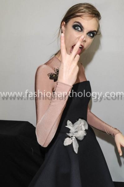 Portraits of top model Cara Delevingne Backstage feb-march 2013 winter 2013-2014