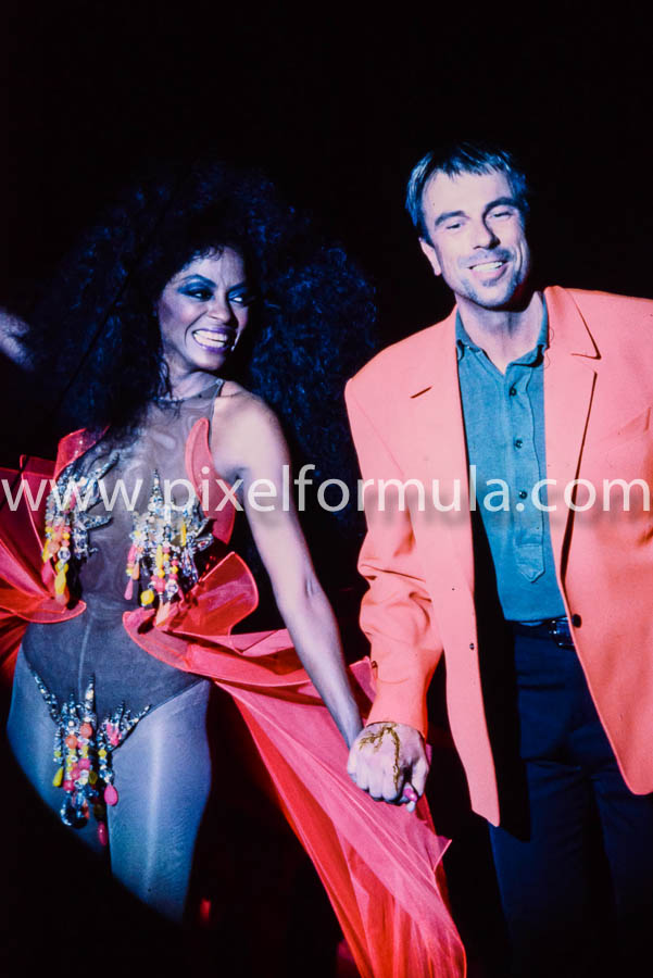 Super diva Diana Ross with Thierry Mugler. Paris 1990. Photo Yannis Vlamos