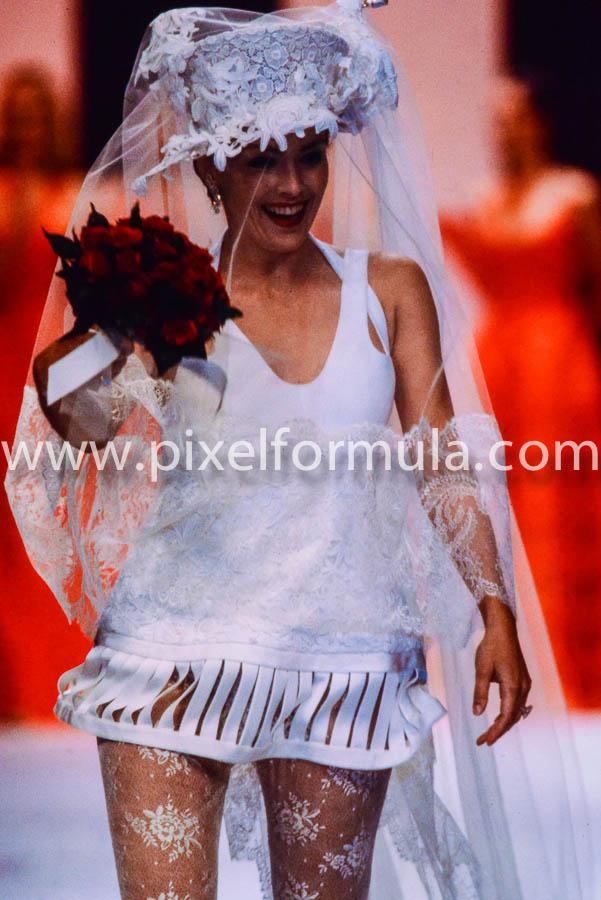 Sharon Stone for her favorite designer, Valentino. Paris, 1993. Photo Yannis Vlamos.
